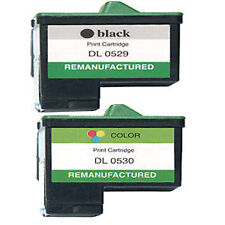 2 Non-OEM Fit For Dell A920 Ink Cartridges Black & Colour