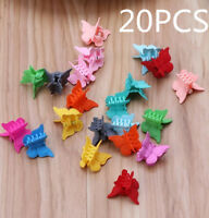 20PCS Multi Color Butterfly Hair Clamps Assorted Mini Plastic Hair Clips Claws
