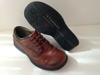MERRELL WORLD LEADER Brown Leather Performance Casual Shoes Mens Size 8.5