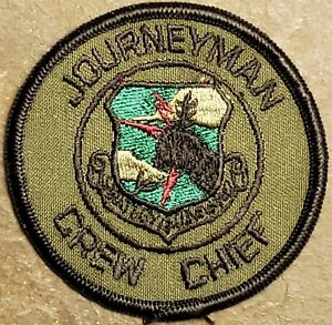 SAC JOURNEYMAN CREW CHIEF PATCH US AIR FORCE STRATEGIC AIR COMMAND Subdued VTG