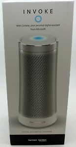 Silver Harman Kardon iPhone/iPad/Android Wifi Invoke Microsoft Cortana Speaker
