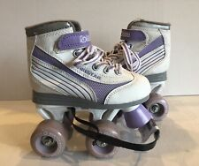 Girl's Roller Derby Firestar Roller Skates White/Purple Size 12