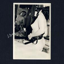 Nude woman's Mirror teasing/femme nue posé M Miroir * vintage 60s photo