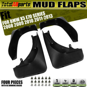 4 Pieces Mud Flaps Splash Guards Mudflap for BMW X5 E70 2007-2013 Front and Rear