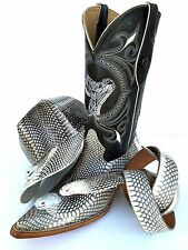 COBRA SKIN,BOOT HAT BELT,u pay much cheap to get set(GENUINE)(3HED SNAKE)+lining