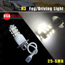 1x Car Auto H3 25-SMD Xenon White Fog/Driving Head LED Light Lamps Bulb US 12V