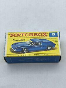 Vintage Matchbox Car 5 Lotus Europa New In Box