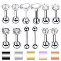 Lip Stud Ring Steel Crystal Ear Tragus Cartilage Earring Helix Stud Ear Piercing
