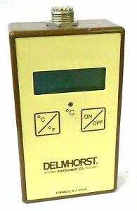 DELMHORST INSTRUMENT TM-100, DIGITAL LCD MOISTURE METER THERMOMETER