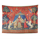 Semtomn Tapestry Wall Hanging French The Lady and Unicorn to My Only 16Th Fabric