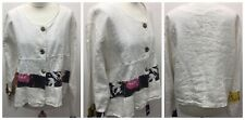 Ladies Sarah Santos Long Sleeve White Short Jacket Women Casual Baggy Small Coat