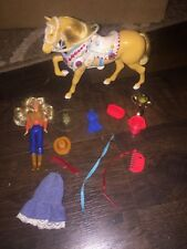 Glamour Gals Diamond Jubilee showhorse near complete with Jessie cowgirl doll