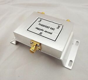 RF Coaxial Power Splitter Divider Combiner SMA 2-way Signal Booster 380-2500MHz