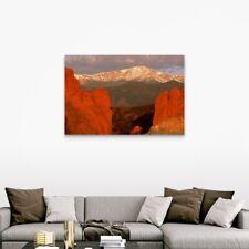 pikes peak, the gods park, colorado Canvas Wall Art Print, Mountain Home Decor