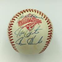 1992 Toronto Blue Jays World Series Champs Team Signed WS Baseball PSA DNA COA