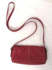Coach Red Leather Crossbody  Purse Bag