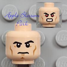 NEW Lego Male Light FLESH MINIFIG HEAD - Red Laser X-Ray Eyes Boy Super Man Hero