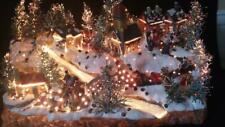 """Christmas Village Fiber Optic Xmas Village house Lighted changing colors15"""" x 6"""""""