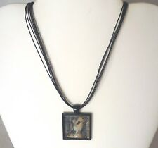 New ListingDrama Queen Greyhound or Whippet Dog Pendant, Multi Strand Black Cord Necklace