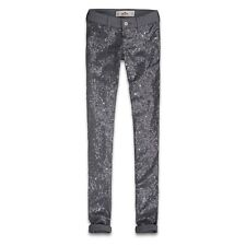 HOLLISTER CO. HCO GIRLS SEQUIN FRONT JEGGINGS RRP £90! 9-R W28/29 L29 NEW