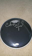 """Carter Beauford SIGNED 10"""" DRUMHEAD Dave Matthews Band JSA sticker only"""