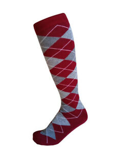 Men Various colors Scottish  Argyle Golf Knee High Socks: Over-The-Calf 5-8,9-13