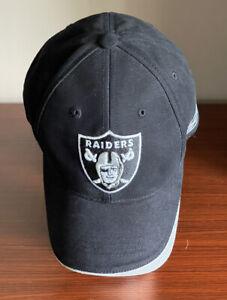 VINTAGE Oakland Raiders NFL OSFA Reebok Pro Line Authentic Black Cap Hat