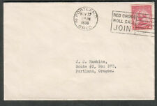 1930 cover Portland OR Red Cross Roll Call join slogan cancel to Route 3 in-city