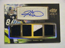 2011 Topps Prime Level VI Hines Ward Pittsburgh Steelers 2 Color Relic Auto 1/1