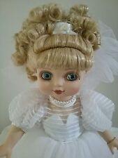 Marie Osmond porcelain doll Adora Belle white wedding dress 2000 #3570 SIGNED
