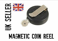 COIN VANISH MAGIC  magnetic reel pull *easy magic, disappearing money*