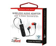 LOT of 2 ZipKord Bluetooth Wireless Audio Adapter for 3.5mm Headphones Converter