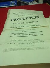 Old Worcestershire Document 1873 Hartlebury, Seen Corbett, Cooper, Griffin,Cooke