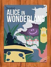 "TIN SIGN ""Alice In Wonderland"" Tea Cups  Disney Ride Poster"