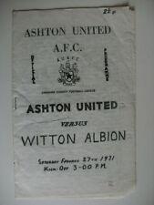 Albion Home Team Football Non-League Fixtures