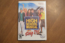 High School Musical: Sing It (Nintendo Wii, 2007) - Game Tested