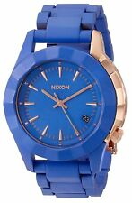 Nixon Women's A288-1675-00 Monarch 38mm Cobalt Rose Gold Blue A2881675
