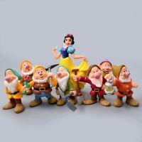 8 Pcs Princess Snow White and the Seven Dwarfs Pvc Figures Toys Kids Xmas Gift