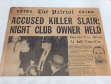 "The Patriot Extra November 25,1963 ""Accused. Killer Slain Night Club Owner Held"""
