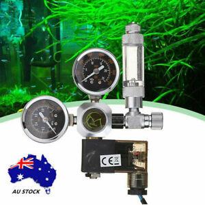Aquarium 220V CO2 Regulator Solenoid Valve Check Magnetic Valve Bubble Counter