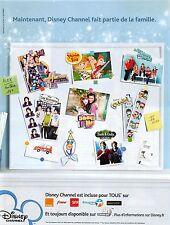 Publicité Advertising 2011 Disney Channel (Advertising paper)