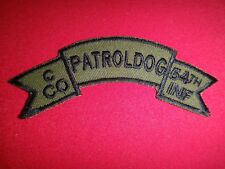Vietnam War Company C PATROL DOG 54th Infantry Regiment Subdued Scroll Patch