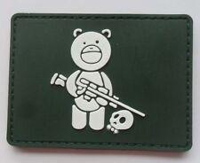 Hot  Sniper Bear PVC 3D Rubber   Patch SJK   50