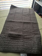 Donna Karan Home Collection Silk King Quilted Pillow sham Silver $125