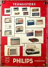 Philips Transistor Radios Original French Advertising Poster 1961