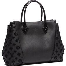 N9 NEW Beautiful  Louis Vuitton Tote W PM Bag Black Purse Handbag Monogram 5000$