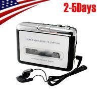 USB Cassette Tape to MP3 iPod CD Converter Capture Audio Music Player【USA】2019