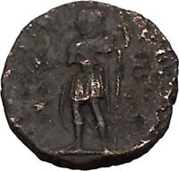 CONSTANTIUS II Constantine the Great son with globe Ancient Roman Coin i42808