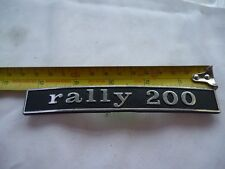 Vespa Rally 200 Rear Frame Badge, Later Type