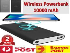 Qi Wireless Charger portable Powerbank 10000mAh Battery iPhone XS X SAMSUNG HTC